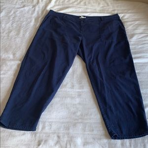 Eileen Fisher Navy Organic Cotton Relaxed Pant 16W